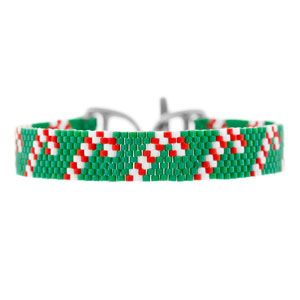 Candy Cane Boulevard Bracelet | Fusion Beads Inspiration Gallery
