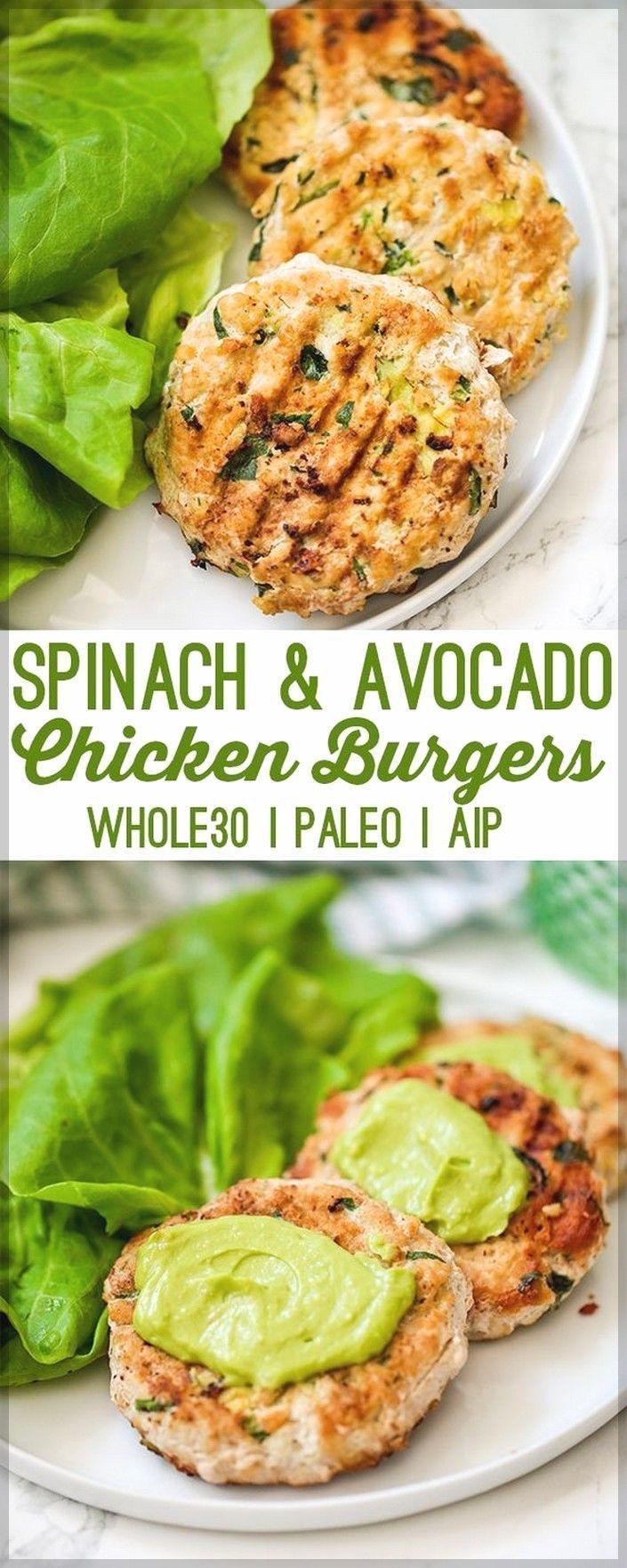 Spinat Avocado Chicken Burgers   Gesunde Avocado-Rezepte – Essen & Trinken – G ….