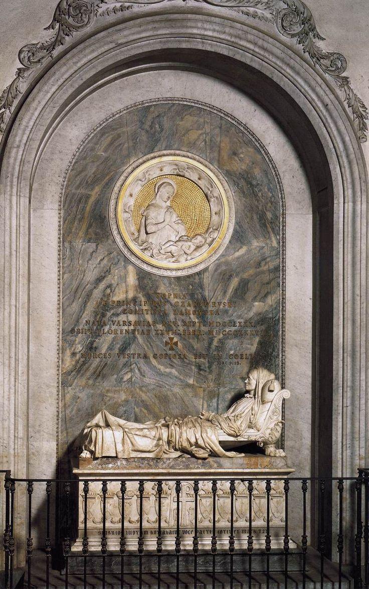 Lorenzo Baldini, Monumento funebre della Contessa Sofia Zamoyska, 1837,Firenze, Chiesa di Santa Croce.