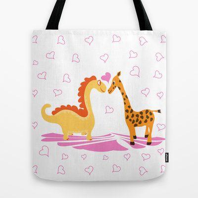 Dinoraffe Tote Bag by Hagu - $22.00