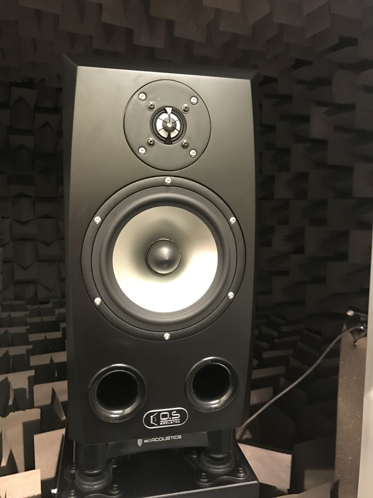 OS Acoustics   Our prototype DB7 precision studio monitor speaker, leaving the Anechoic Chamber for the final time.