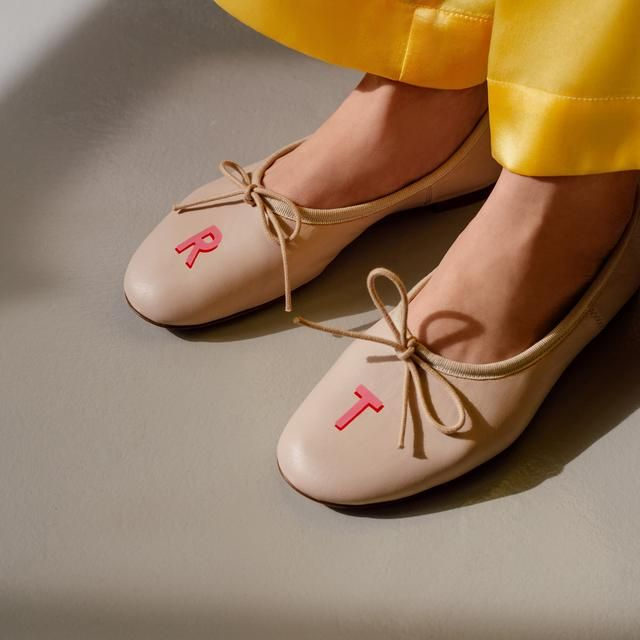 Monogrammed Ballet Flats Leather Shoes Woman Ballerina Flats Ballerina Shoes Flats