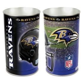 Baltimore Ravens Waste Basket $24.95 http://www.mysportsdecor.com/baltimore-ravens-waste-basket.html #baltimoreravenswastebasket #baltimoreravens #baltimoreravensmerchandise