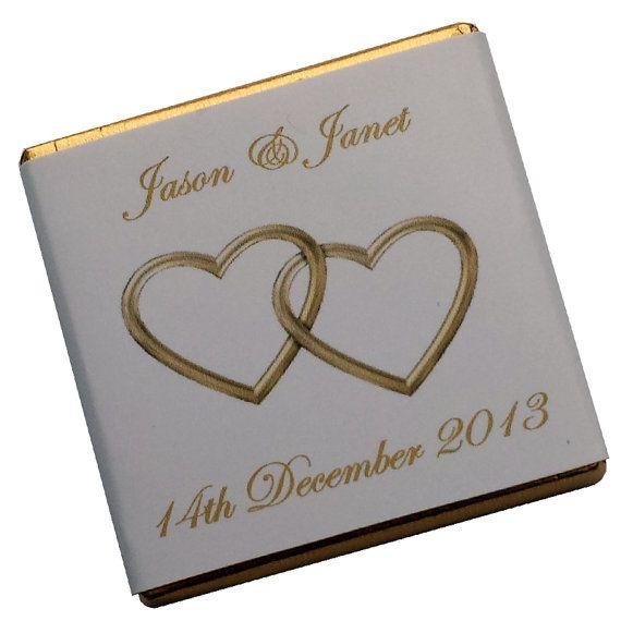 100 personalisierte Schokolade Hochzeit gefallen  von Wrapped4You