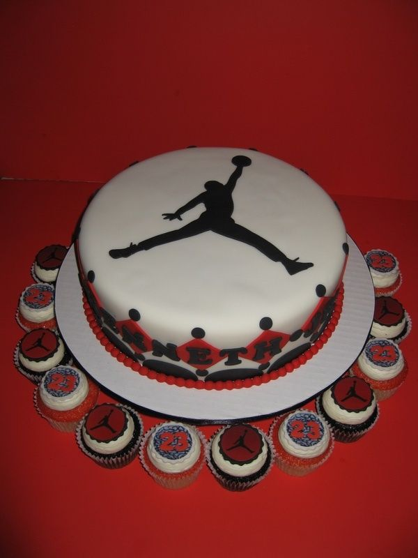 Michael Jordan Party Theme | Michael Jordan Baby Shower Cake - The House of Cakes