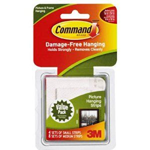 Command Picture Hanging Strips Variety Value Pack, 4-Small and 8-Medium Strips (17203-ES) - Picture Hangers - Amazon.com