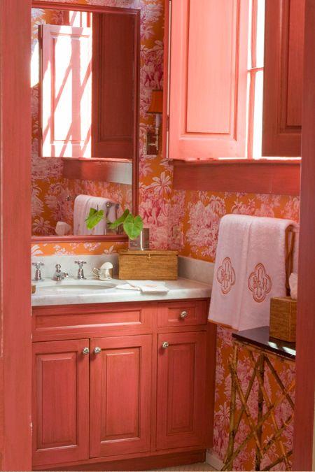 Sonar Con Baño Muy Bonito:Coral Color Bathroom