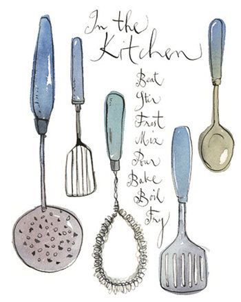 Kitchen Utensils Art 51 best as level textiles -cutlery images on pinterest | drawings