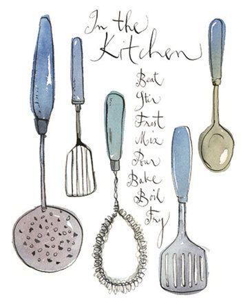 Vintage Kitchen Utensils Illustration 31 best <3 kitchen illustration <3 images on pinterest | kitchen