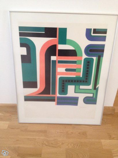 Jean Dewasne graphic print- love the colours