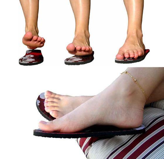 Self-adhesive flip flops for NO TAN LINES!