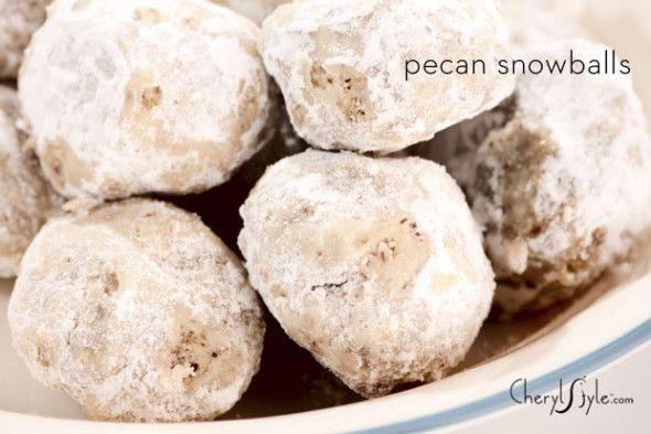 pecan snowball pecan-balls-cookie-recipe-cherylstyle. These look like they're pretty easy to make and great for a party! Yum!