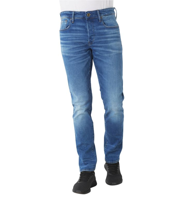 "Jeans ""3301 Straight Tapered"", Waschungen, Label-Patch"