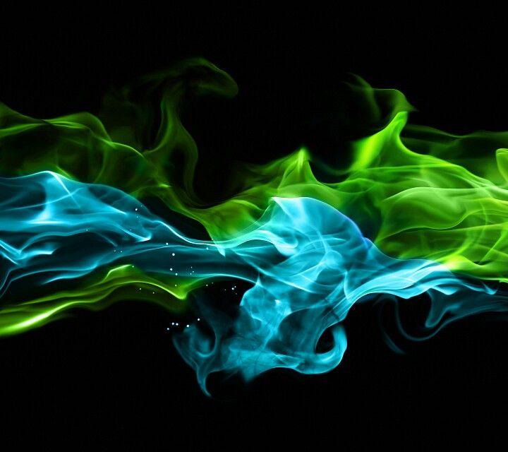 Neon dark blue aesthetic collage. Blue & Green Smoke | Smoke painting, Wallpaper space, Neon