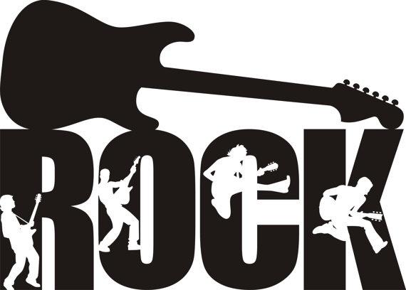 Rock Guitar Decal Rock Guitar Silhouette Rock Sticker