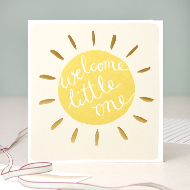 Modern Calligraphy New Baby Card - Welcome Little One