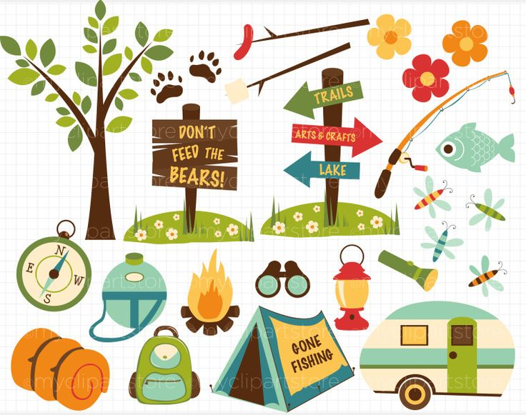 camper clipart camping clipart border clip art camping with dad rh pinterest com camp clipart for kids camper clipart