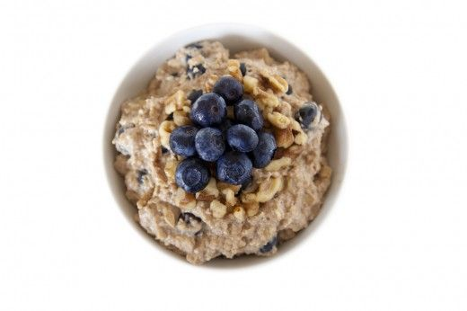 I just made this blueberry cheesecake oatmeal receipe and it was delicious!! Credits to rabbitfoodformybunnyteeth
