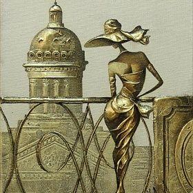 Картина На балконе. Городской пейзаж. Ковалев Сергей.