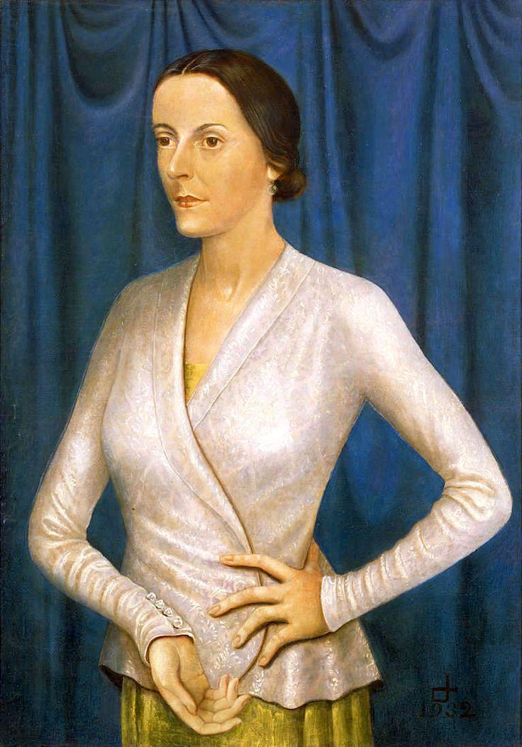 Otto Dix / Portrait of the Singer Elisabeth Stüntzner, 1932