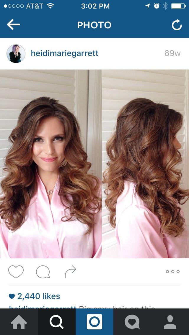 Hot roller curls from the Hair and Makeup Girl, Heidi Marie Garrett