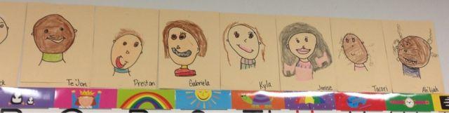 Kinder self portraits. So fun!