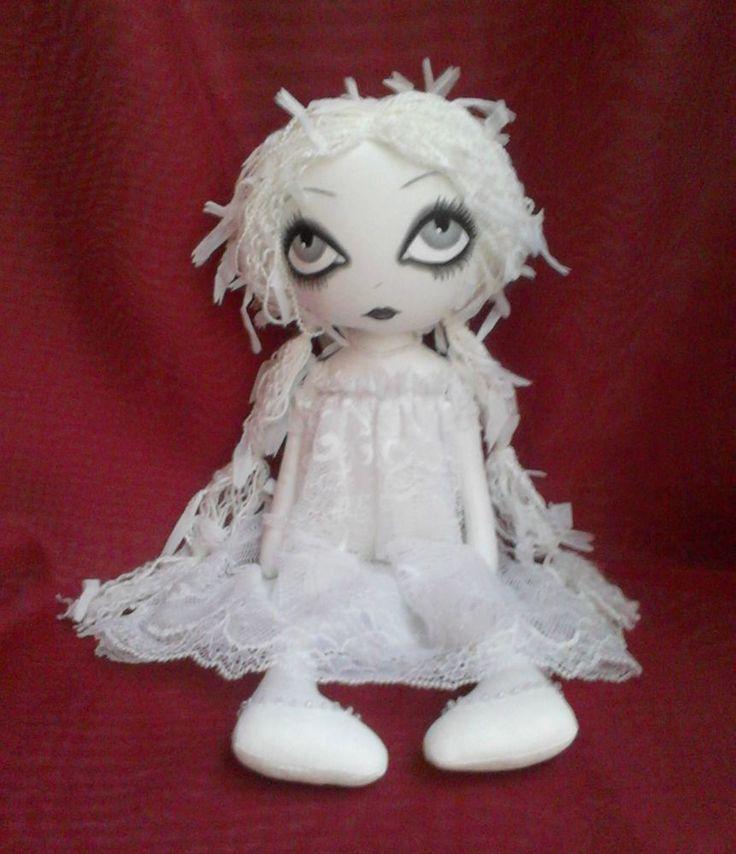 OOAK Ghost Art Rag Doll - Victoria