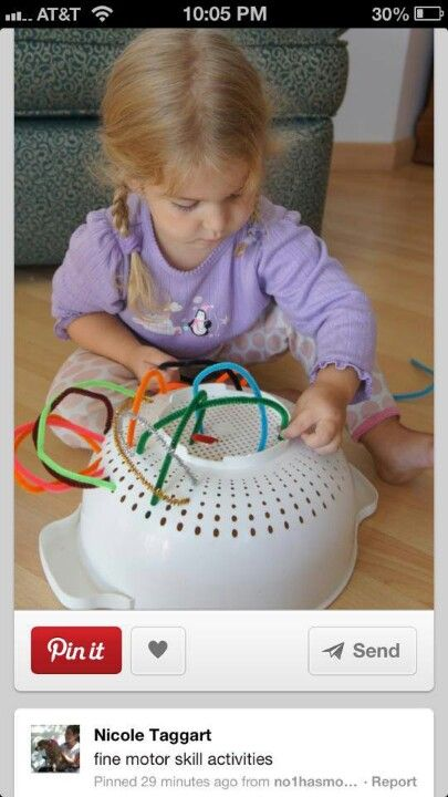 focus, concentration, sensory and fine-motor skills