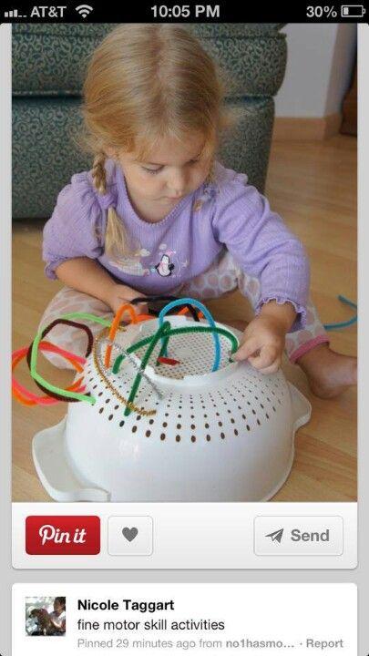 focus, concentration, sensory and fine-motor skills