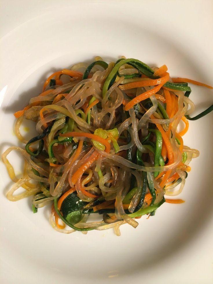 CooktheLook: Cosa cucino: Shirataki con spaghetti di zucchine e...