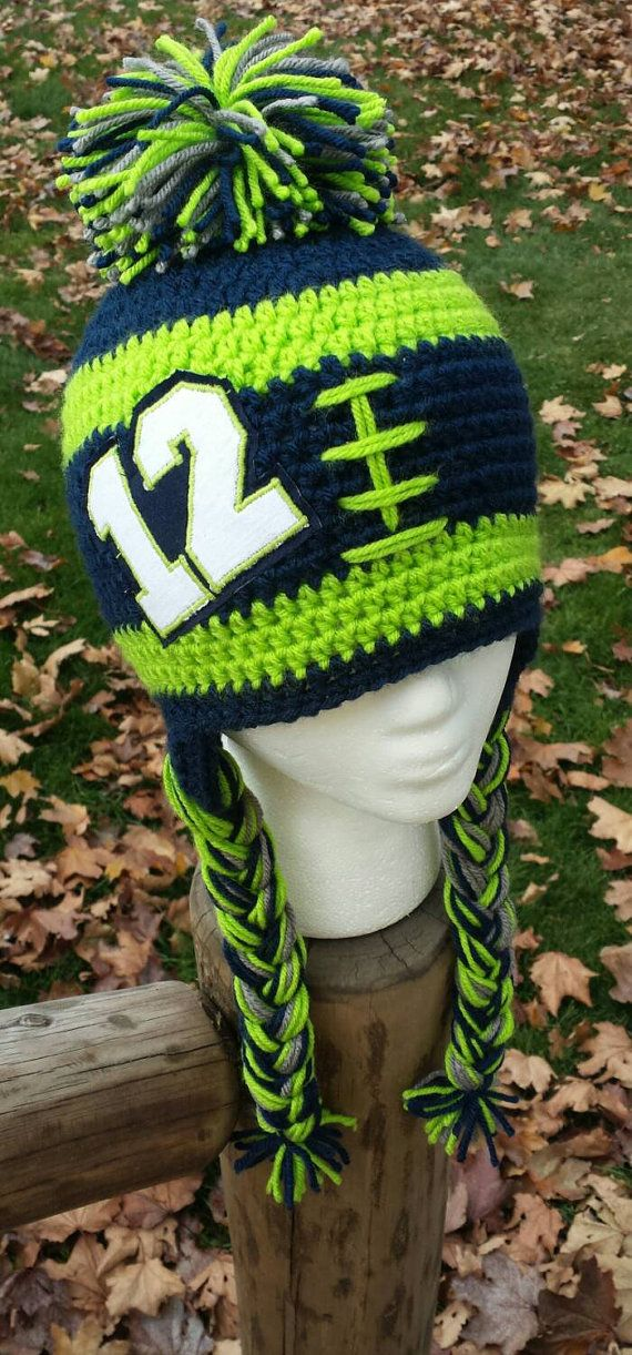 Seahawks Beanie Seattle Seahawks hat 12th Man by AtTheLilyPond