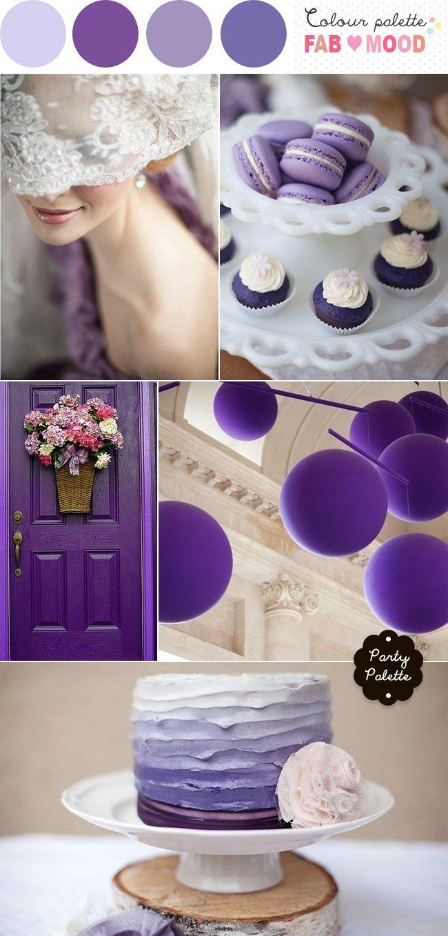 Coucou les filles ! Aujourd'hui je vous propose une inspiration de décoration de mariage parme/lavande. Qu'en pensez-vous ?