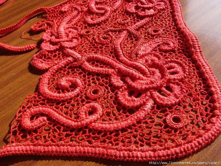 Irish crochet. non c'è schema, ma si può prendere come esempio e idea.
