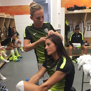 Whether it's to do each other's hair… | 32 Reasons The U.S. Women's Soccer Team Is #SquadGoals Defined