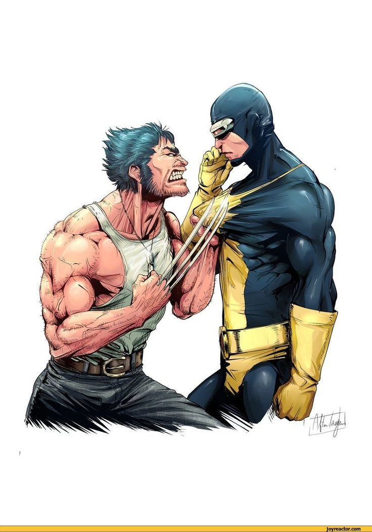 art,beautiful pictures,Wolverine,Cyclops,X-Men,Afterlaughs