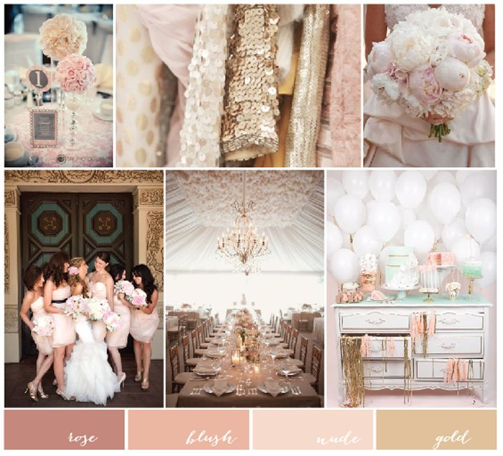 Gold, Blush Pink and Nude Wedding Inspiration | Charmed Events Group