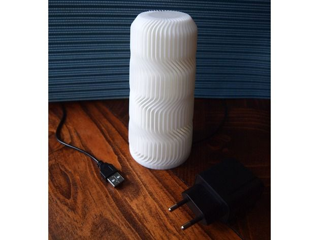 Wave Lamp Yeah By Brico3d Thingiverse Lamp Lamp Inspiration 3d Printing