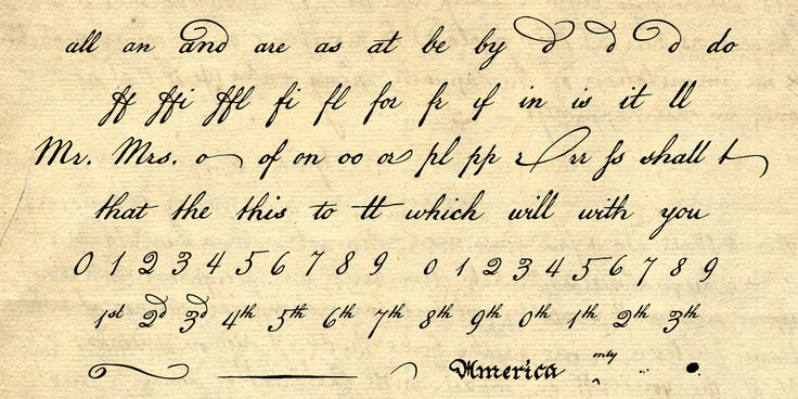 Check out the American Scribe font at Fontspring. Matlack—whose clear, compact script is perhaps the most familiar handwriting in America—was an interesting man: an American patriot and former Quaker, kicked out of the church for fighting in the Revolution; he also sat as prosecutor at the court martial of Benedict Arnold.