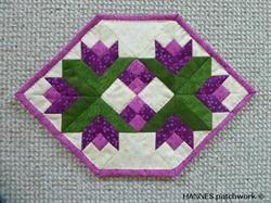 Beate Dækkeservietter har mønster A3 ark nr 483 er et Pedari patchwork mønster
