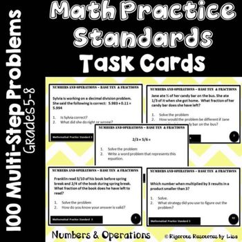 Mathematical Practice Standards Task Cards