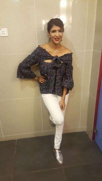 Actress Lakshmi Manchu wearing Parul J.Maurya for Celebrity Badminton League