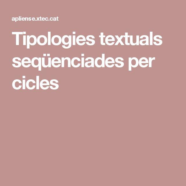 Tipologies textuals seqüenciades per cicles