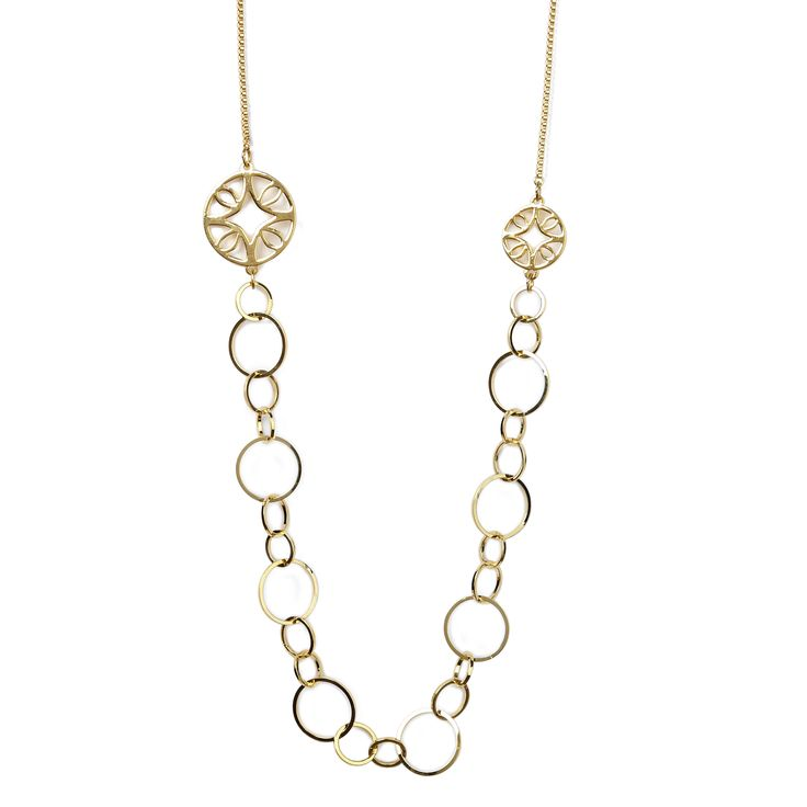 """Florence necklace - available in gold and silver. Get 25% off these earrings with code """"foxypin"""" http://www.foxyoriginals.com/Florence-Necklace-in-Gold.html Tags: gold necklace, Florence, imaginary voyage, gold jewelry"""