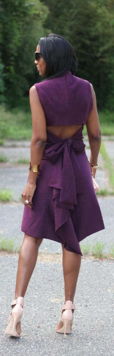 DIY Open BackTop and Ruffle Back Skirt / Fashion by Beaute J'adore