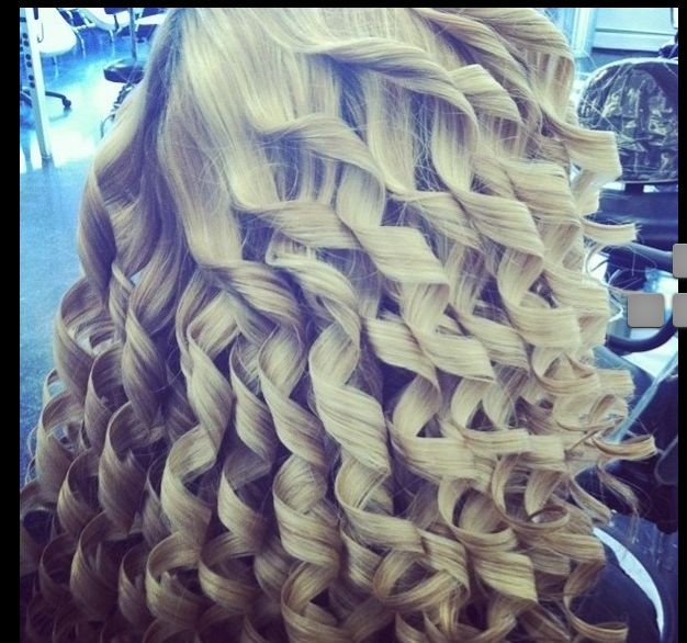 This pretty curls on your hair.