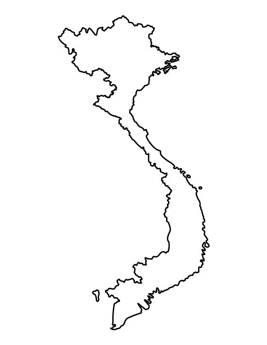 Vietnam pattern. Use the printable outline for crafts, creating stencils, scrapbooking, and more. Free PDF template to download and print at http://patternuniverse.com/download/vietnam-pattern/