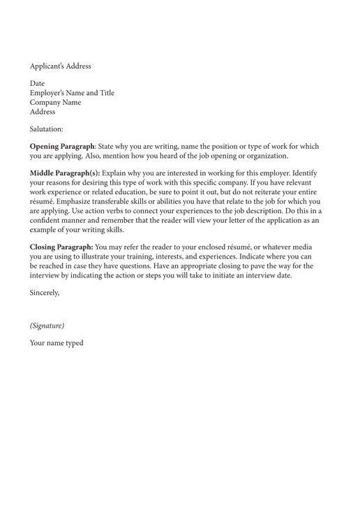 42 best Resumes \ Cover Letters images on Pinterest Cover letter - how to type a cover letter for a resume
