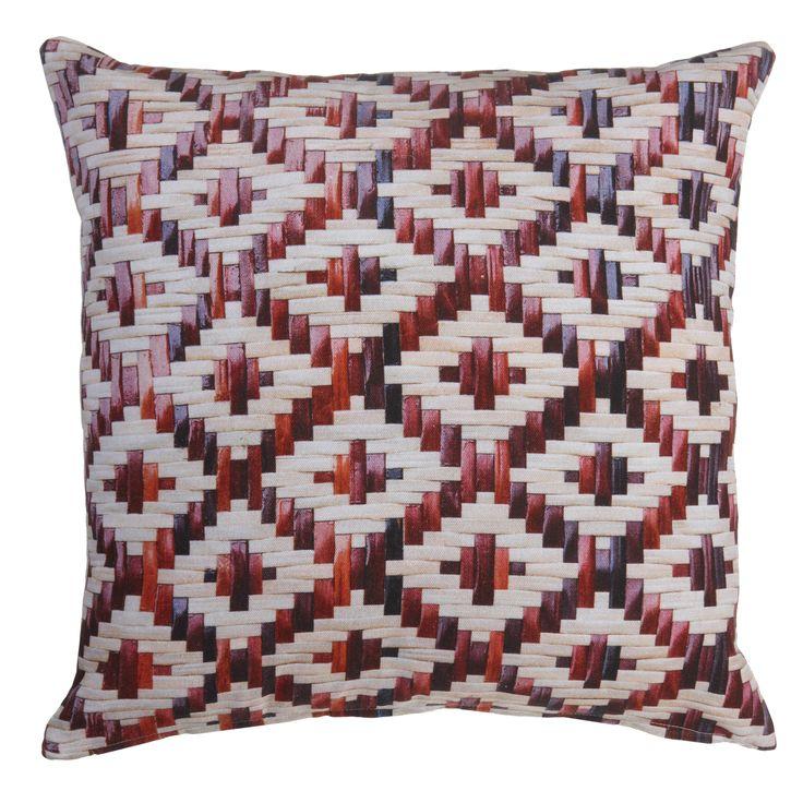 Kussen KAAT Red Weaving Red - NIEUWE COLLECTIE | Cushion KAAT | http://www.livengo.nl/beddengoed/sierkussens | #sierkussens #oosters #rood #slaapkamers #livengo