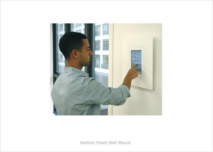 vertron fixed tablet wall mount wall mounted ipad kiosk tablet kiosk pod displays - Tablet Wall Mount