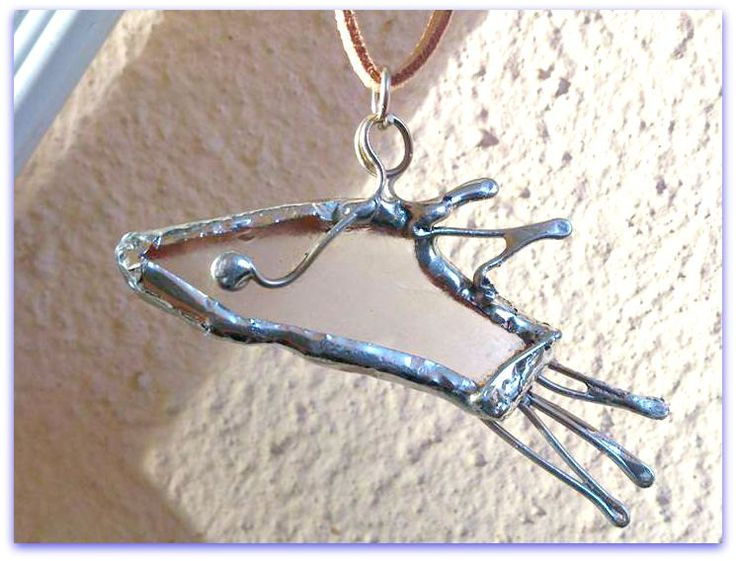 OOAK Greek islands souvenir Handmade Seaglass pendant fish shape /silver solder sea glass necklace/,ready to ship,gift for her,gift for him by SueEllenDreamland on Etsy